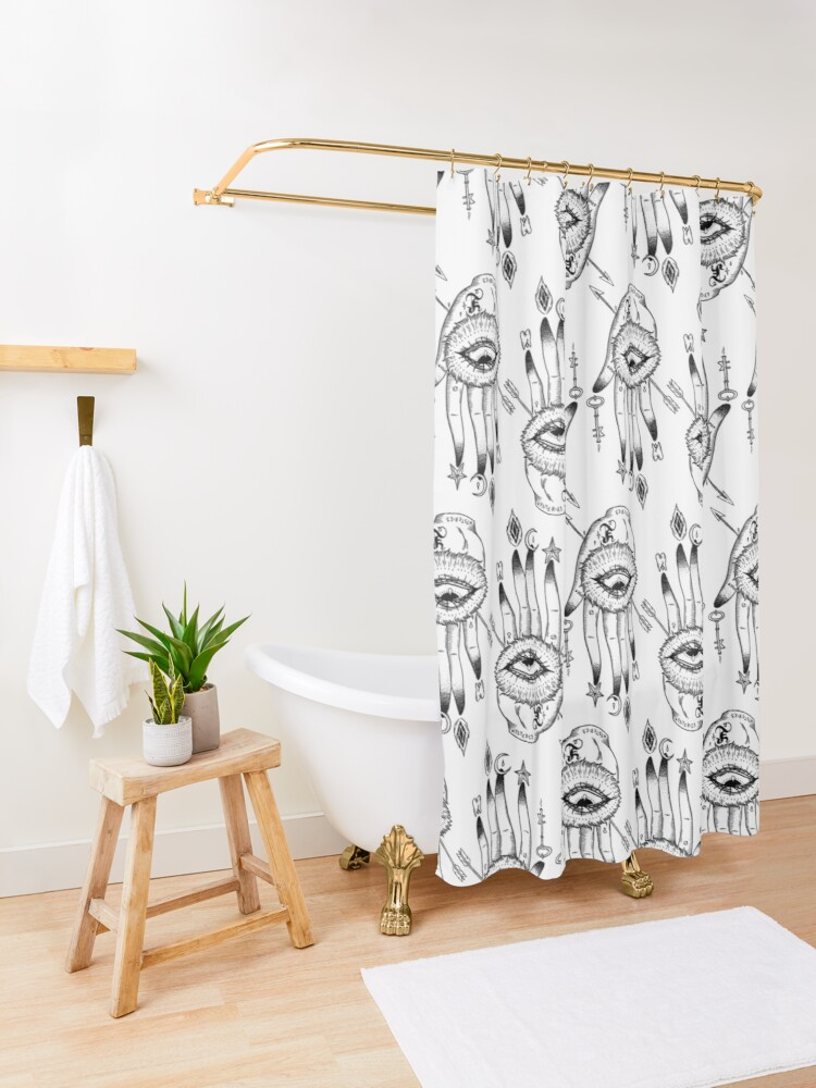 Alternate view of Hand of Mysteries  Shower Curtain