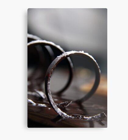 Chocolate Swirl Metal Print