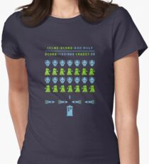 Dr ?: Space Invader Women's Fitted T-Shirt