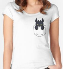Pocket Toothless Women's Fitted Scoop T-Shirt