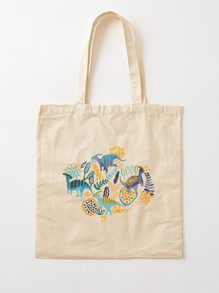 Alternate view of Gouache Parasaurolophuses  Tote Bag