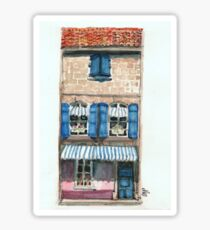 Pink House in Arles Sticker