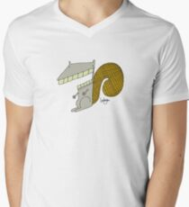 Scooter the Squirrel - Part of the 'Hungry Monsters Collection' Mens V-Neck T-Shirt