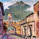 Santa Catalina Arch and Volcano in Antigua by Steven Thomason
