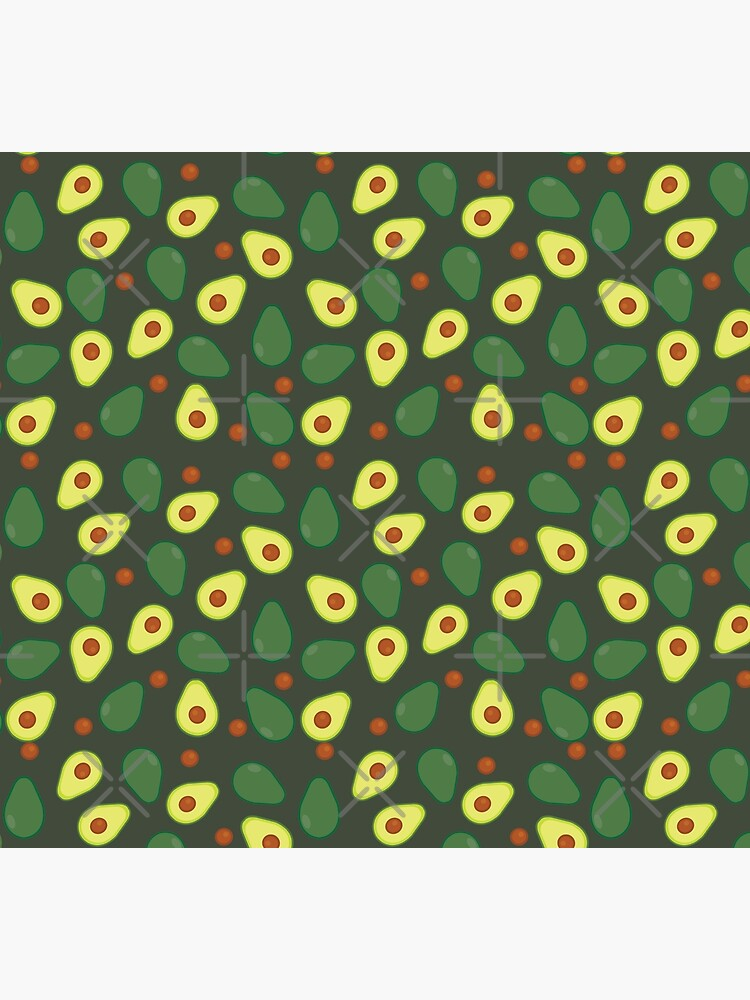 Olive Green and Yellow Avocado Food Pattern by HotHibiscus