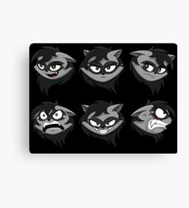 Expressive Raccoon Canvas Print