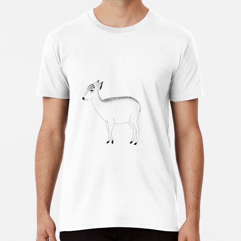 Water Deer (ink illustrations of weird animals that are real) Premium T-Shirt