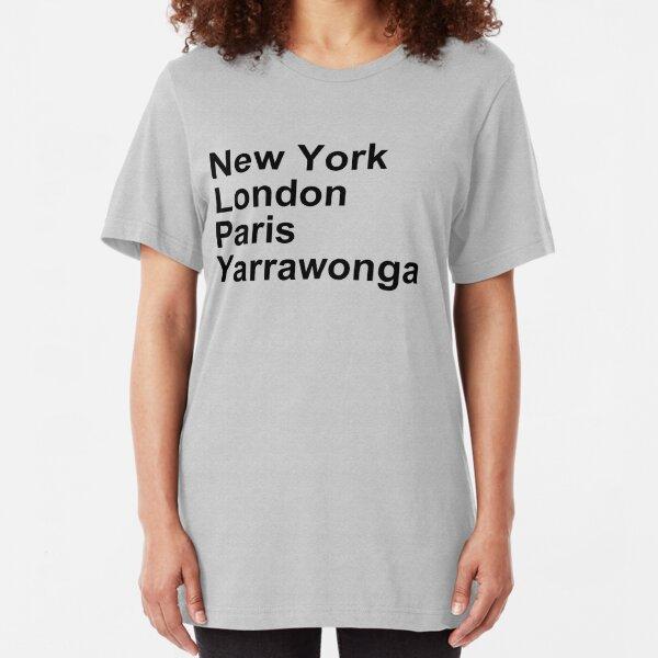 New York London Paris Yarrawonga Slim Fit T-Shirt