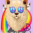 'Imagine' Cat Rainbow Peace and Love by BluedarkArt