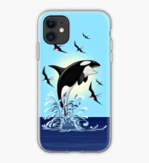 Orca Killer Whale jumping iPhone Case
