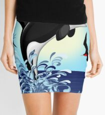 Orca Killer Whale jumping Mini Skirt