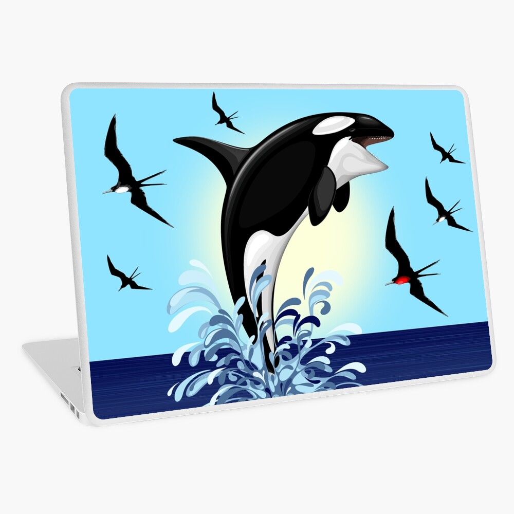Orca Killer Whale jumping Laptop Skin