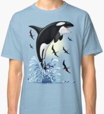 Orca Killer Whale jumping Classic T-Shirt