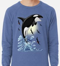 Orca Killer Whale jumping Lightweight Sweatshirt