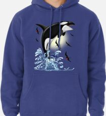 Orca Killer Whale jumping Pullover Hoodie
