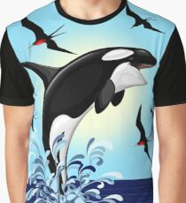 Orca Killer Whale jumping Graphic T-Shirt