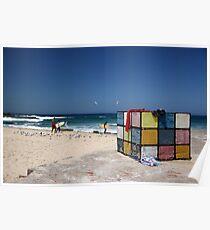 Surfing Fun at Maroubra Beach Poster