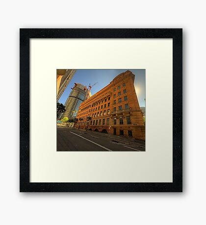 Around The Corner # 2 - Department of Education Building - The HDR Experience Framed Print