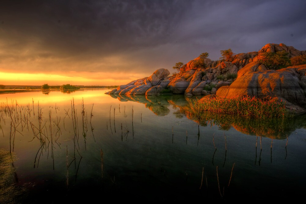 Willow Rock Sunset by Bob Larson