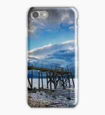 Storm brewing over Kinnegar jetty iPhone Case/Skin