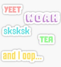 Pastel VSCO Girl sayings sticker pack 2 Sticker