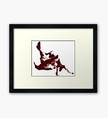 Judo Throw in Gi 3 Red  Framed Print