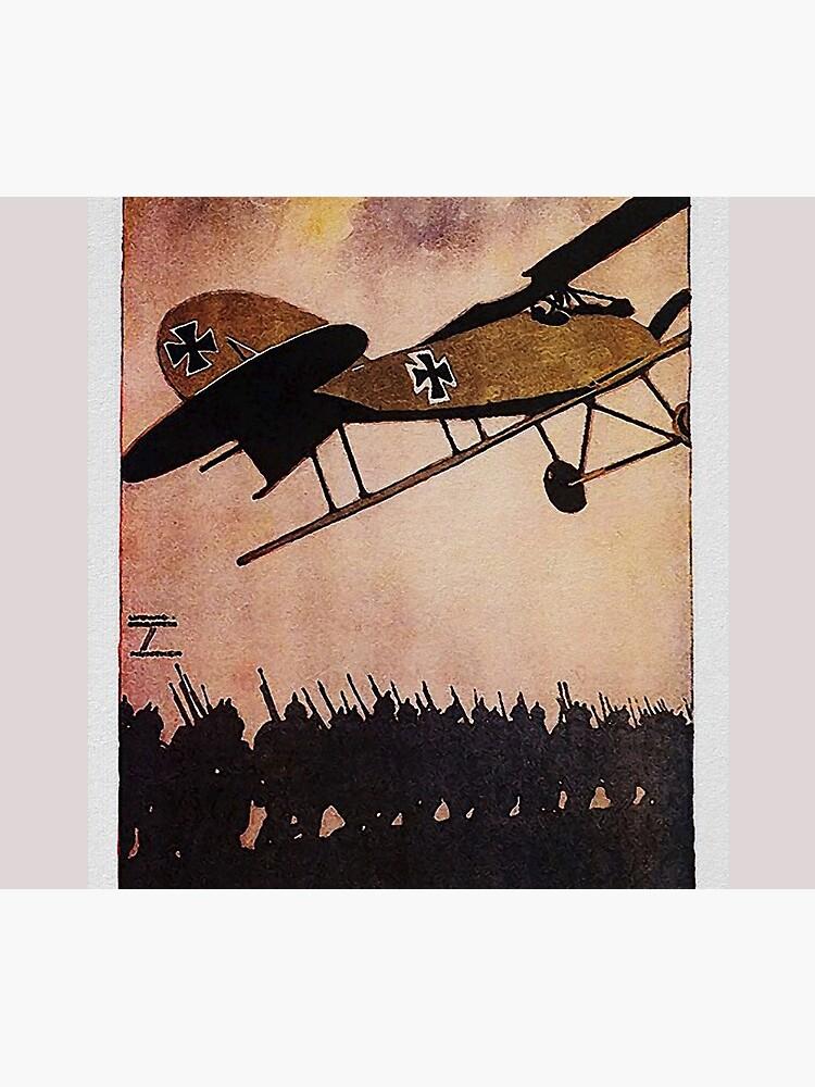 Albatros Biplane.. WWI German Aircraft Advertisement by edsimoneit