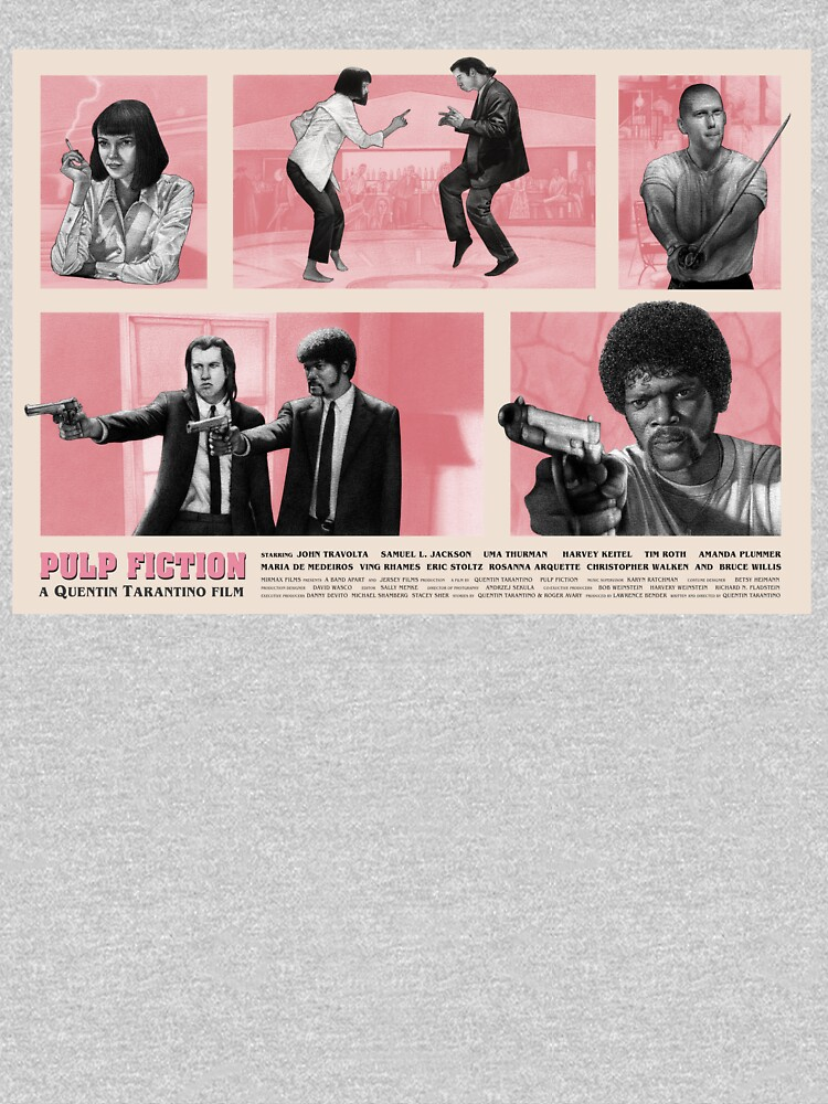 Pulp Fiction Movie Poster Design by KH-Designs