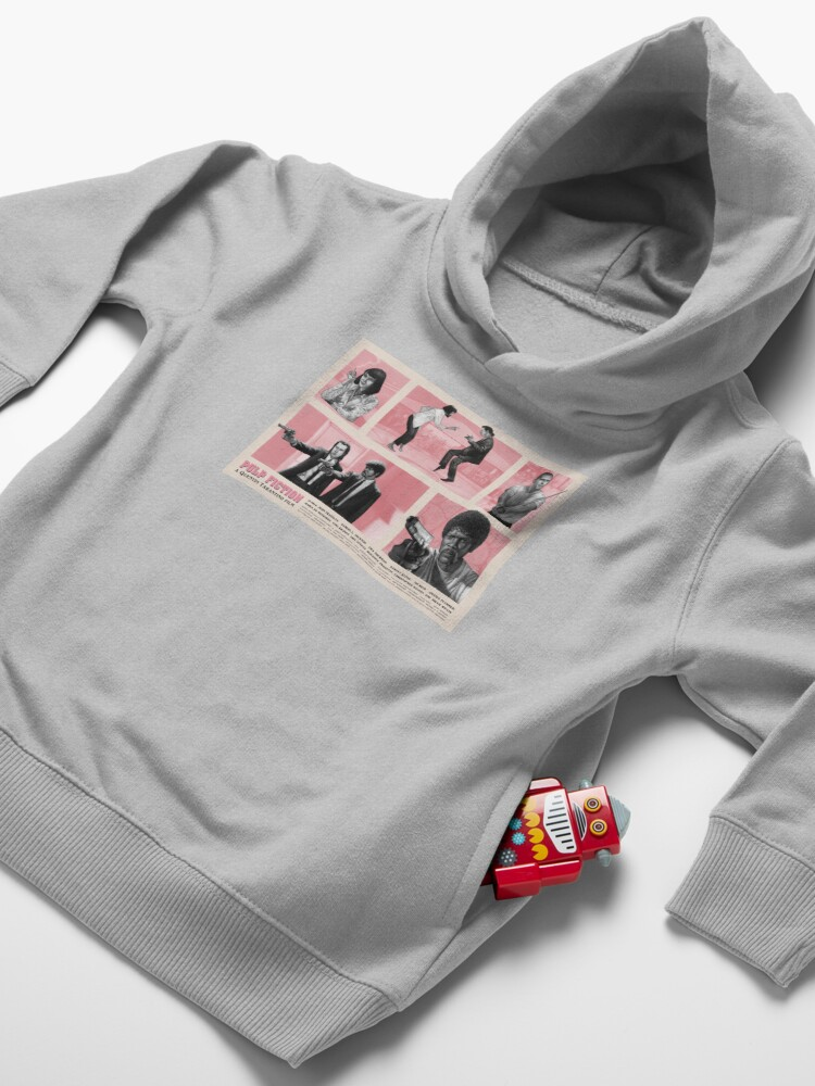 Alternate view of Pulp Fiction Movie Poster Design Toddler Pullover Hoodie