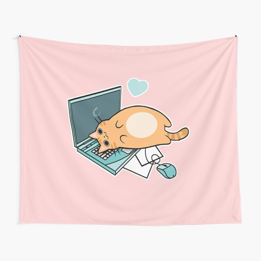 Nette Laptop-Katze Wandbehang