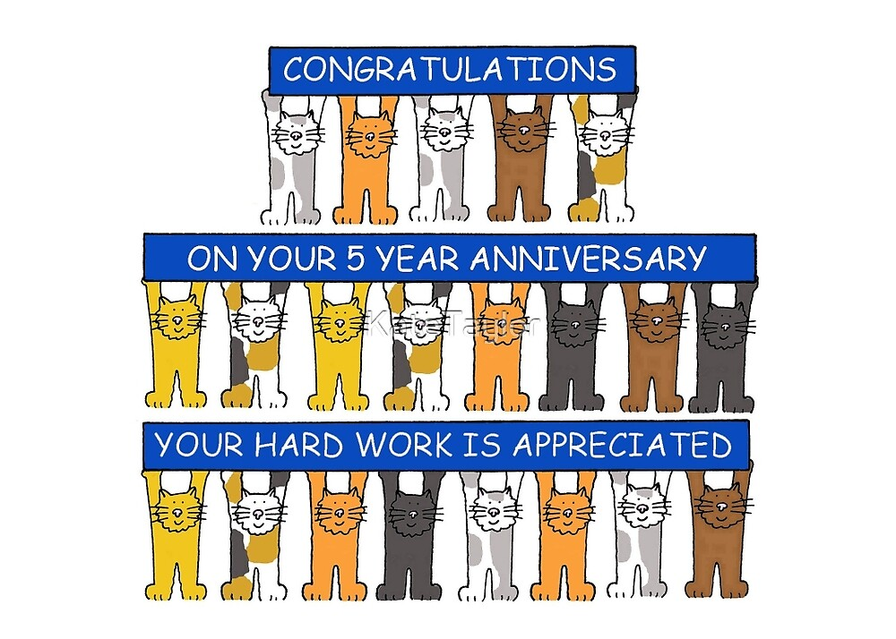 congratulations 5 year work anniversary