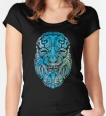 Mesoamerica Mask Watercolor Women's Fitted Scoop T-Shirt