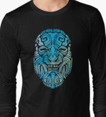 Mesoamerica Mask Watercolor Long Sleeve T-Shirt