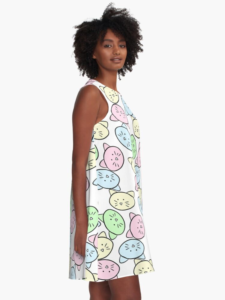 Alternate view of Pastel Cats A-Line Dress