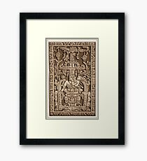 Ancient Astronaut, Pakal, Maya, sarcophagus lid. Framed Print