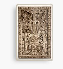 Ancient Astronaut, Pakal, Maya, sarcophagus lid. Metal Print