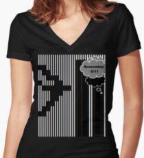 9/11 Ascii Fitted V-Neck T-Shirt