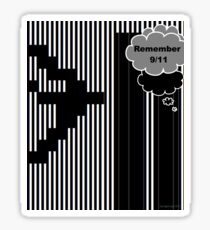 9/11 Ascii Sticker