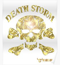 Deaths Head Gold Warlord Wear Poster