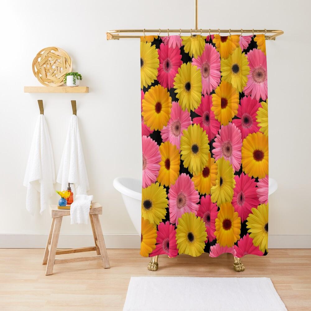 Gerbera Blumen Duschvorhang