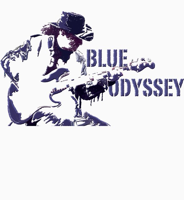 Blue Odyssey T-Shirt by Kev Moore