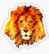 Low Poly Lion Sticker