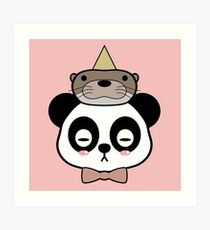Otter and Panda  Art Print