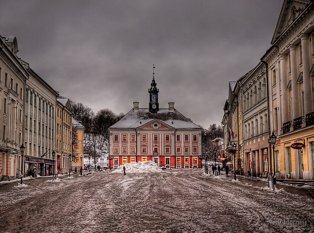 Town Hall & Town Square - Tartu, Estonia by NeilAlderney