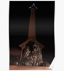 Nelsons Column at night Poster