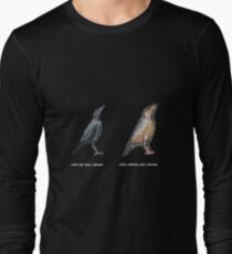 How Crows See Crows Long Sleeve T-Shirt