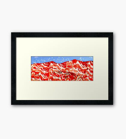 Snow in the Brecon Bacons Framed Print