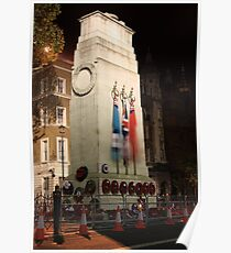 The Cenotaph at night Poster