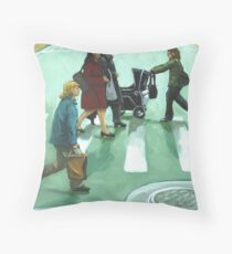 Figurative Cityscape - Daily Rush Throw Pillow
