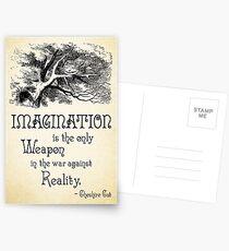 Alice im Wunderland Zitat - Imagination ist die einzige Waffe im Krieg gegen die Realität - Cheshire Cat - 0139 Postkarten